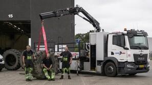 Dækcenter opgraderer på udstyret til de store landbrugsmaskiner