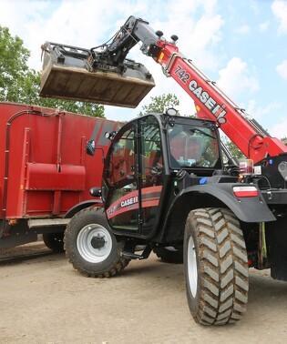 Læsseren med traktordetaljer