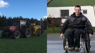 Kørestolsbrugers specialtraktor stjålet midt i høst