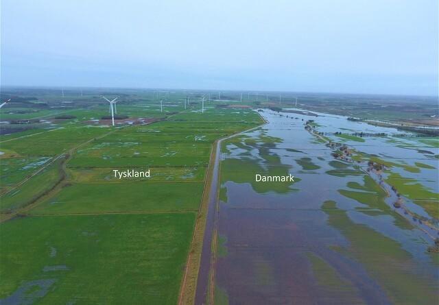 Stor forskel på oversvømmelse ved den dansk-tyske grænse
