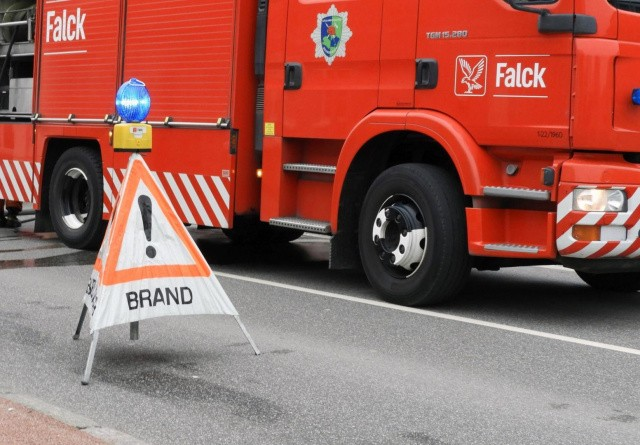 Voldsom brand i lade