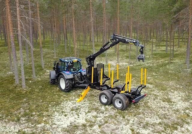 Ny Kronos 121 skovvogn med kran får danmarkspremiere på Langesømessen