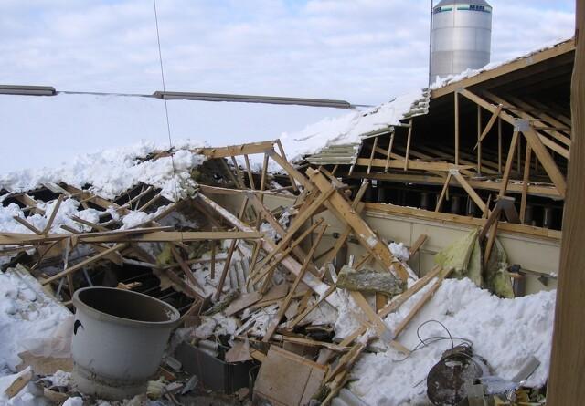 Husk at fjerne sne fra tagene