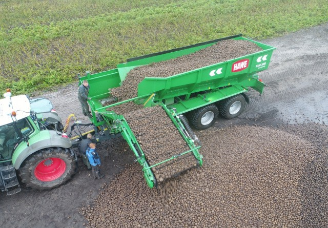 Se pendlervogn til kartofler i aktion