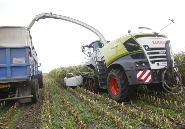 Demonstration af maskiner i majsmarken