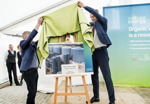 Et af verdens største biogasanlæg indviet ved Videbæk