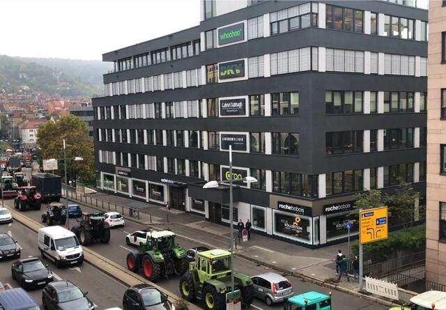 Hamborg blokeret af traktorer