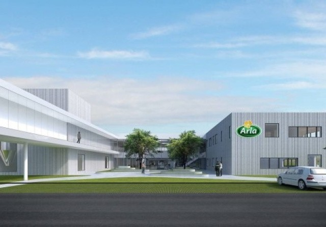 Første spadestik til nyt Arla Foods Ingredients innovationscenter
