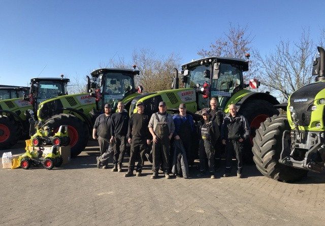 Seks Claas-traktorer til Bøvlingbjerg