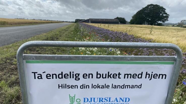 Landmænd på Djursland giver blomster
