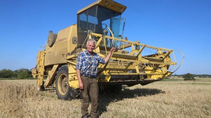 Mejetærsker fra 70'erne og 80'erne klarer nemt 100 hektar om året