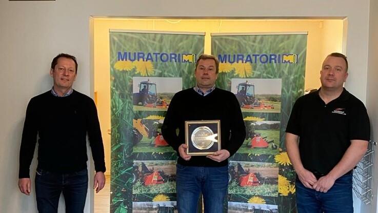 Sønderup Maskinhandel er Europas bedst sælgende Muratori-forhandler for femte år i træk