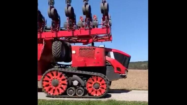 Horsch-robot er igang med majssåning