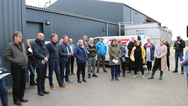 Politisk eftermiddag om grøn omstilling på Grauballegaard Biogas