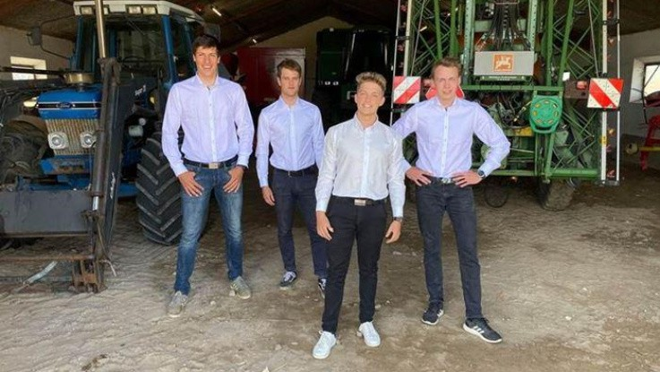 Fire studerende vinder DM med et traktorkondom