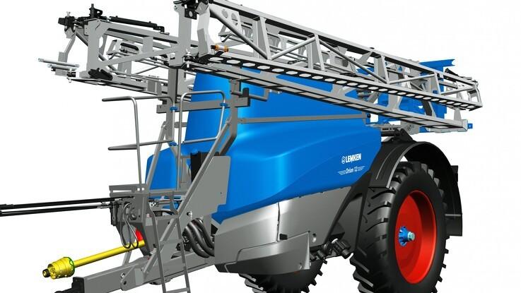 Nyudviklet blå sprøjte med større bom og tank