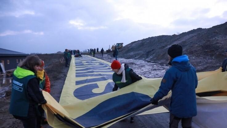 Greenpeace-protest ved fynsk svinebrug
