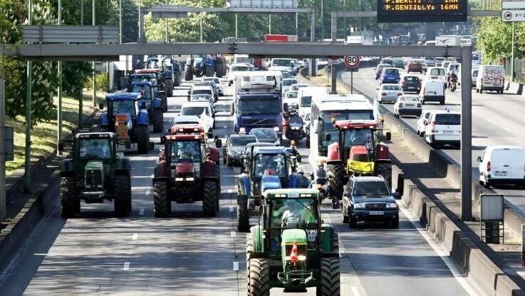 Nye traktorprotester i Berlin