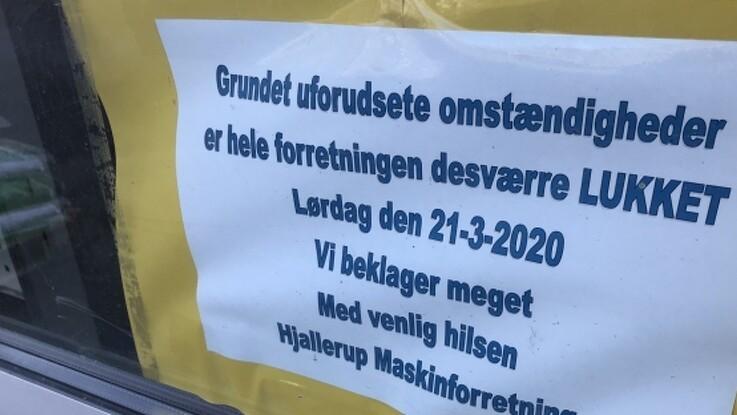 Hjallerup Maskinforretning konkurs