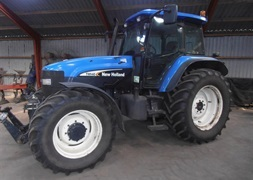 New Holland TM 140 Super Steer foraksel med frontlift