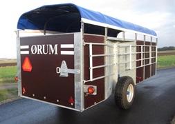 rum KV16 Kreaturvogn 2x6m med galvaniseret bund og hydhvesnke