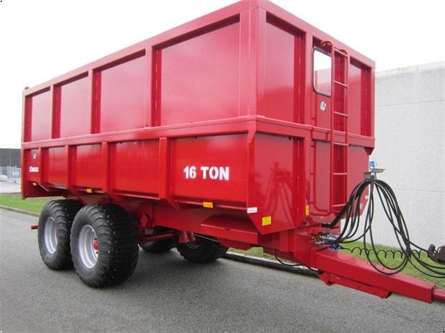 Tinaz 16 tons dumpervogne med kornsider