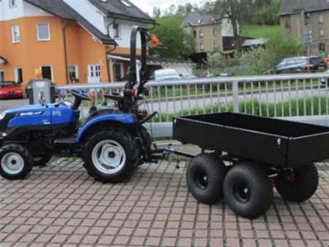 - - - Zweiachsanhänger Anhänger Tandem 500TB mit Bremse für Kleintraktor Traktor Schlepper Quad ATV UTV